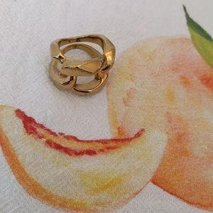 Michael Kors gold tone chain link ring
